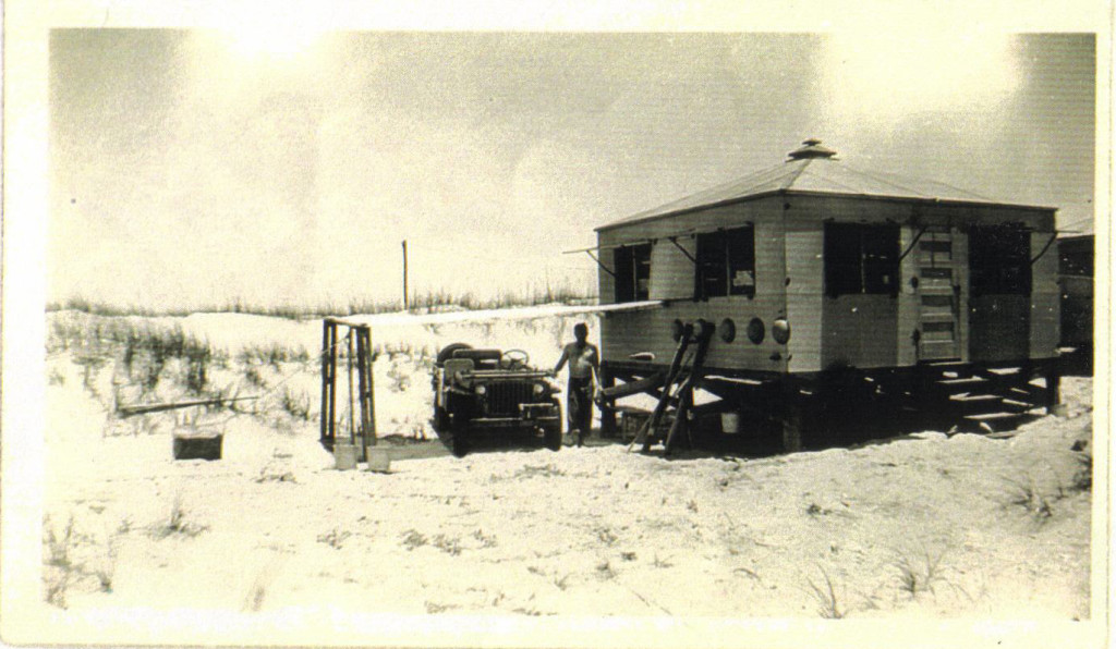 Sand-Pounders Coast Guard Beach Patrol Hut on Padre Island World War 2