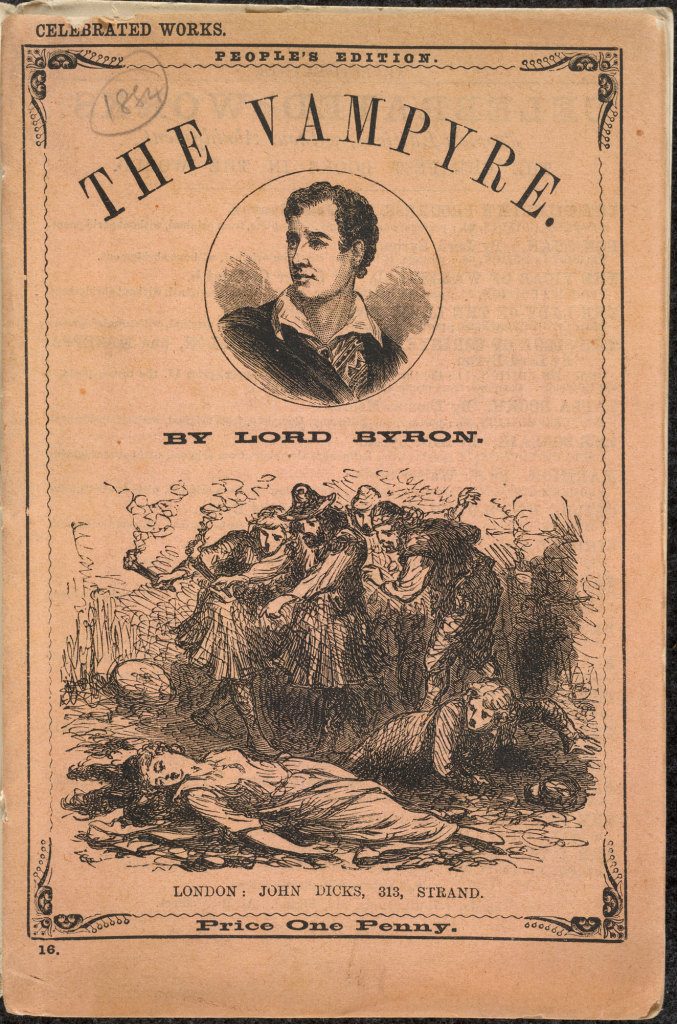 Lord Byron was mistakenly credited with penning the Vampyre until the mid 1880s