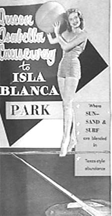 Isla Blanca Park Brochure South Padre Island Texas 1954